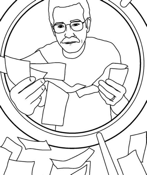 free coloring pages of bad book