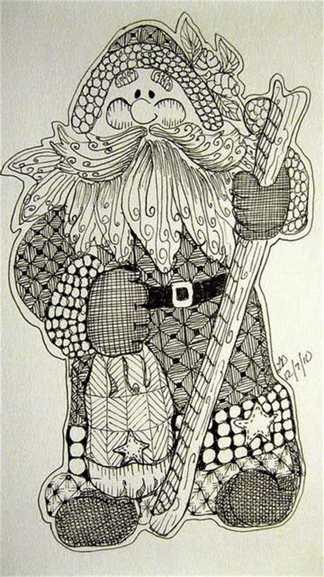 doodle santa beautiful colored zentangle doodles bilder land