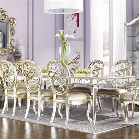 jessica mcclintock dining room furniture jessica mcclintock couture formal dining table in silver