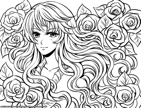 free coloring pages of manga sheets