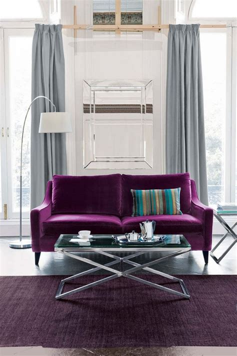 Living Room With Purple Sofa Best 25 Purple Sofa Ideas On Purple Living Room Sofas Purple Floor Ls And Tv Set Up