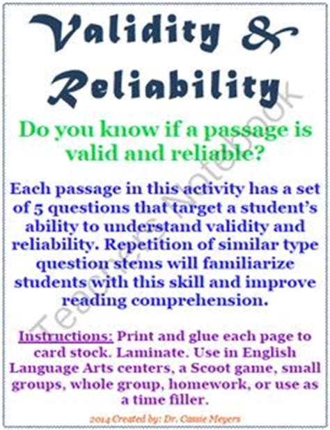 reading comprehension test validity 6th grade math variables and patterns practice from dr
