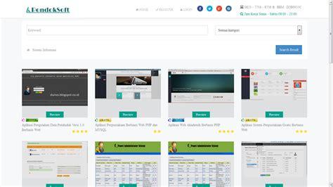 buat web sederhana gratis pondoksoft download source code aplikasi web penjualan