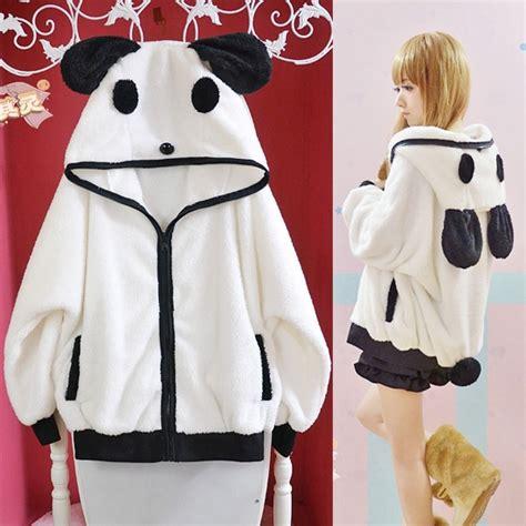 kawaii clothing chaqueta panda hoodie wh106