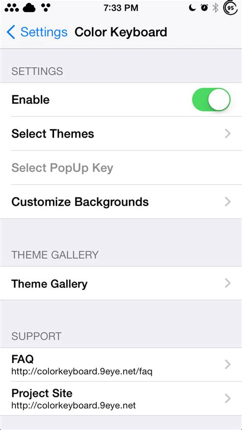 keyboard themes ios 7 cydia color keyboard ios 7 jb tweak for custom keyboard themes