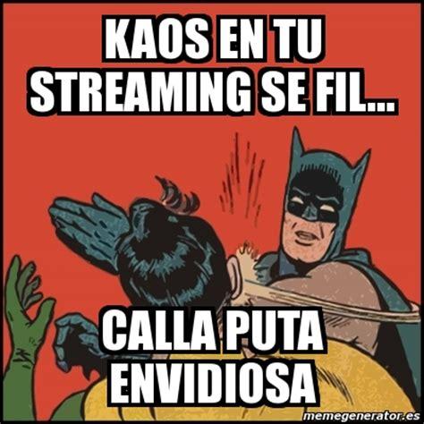 Memes De Batman Y Robin En Espaã Ol - meme batman slaps robin kaos en tu streaming se fil