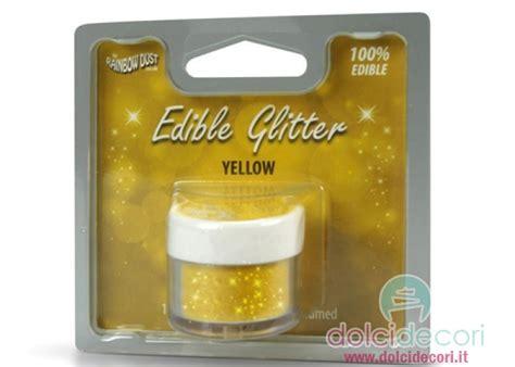 glitter alimentare glitter alimentare giallo per dolci torte e pasticceria