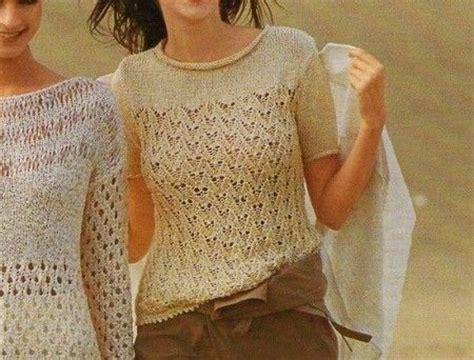 pattern maglia ai ferri lavori a maglia crea una leggera t shirt ai ferri