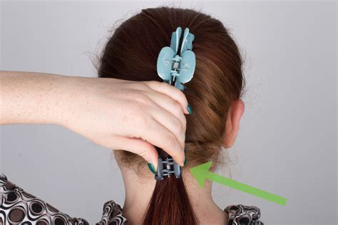 how to put in hair 4 ways to put your hair up with a jaw clip wikihow