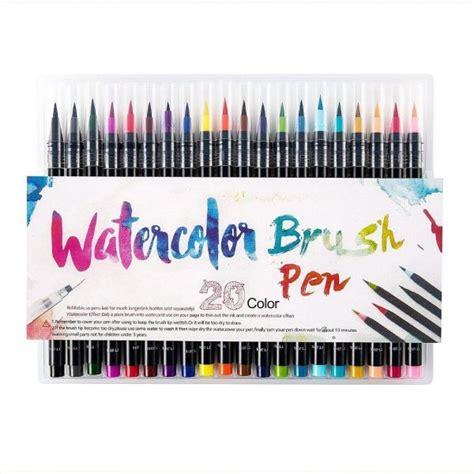 Watercolor Brush Pen Set 20 pieces color brush pens set watercolor brush pen color