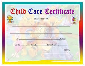 free childcare templates child care certificate student certificate templates