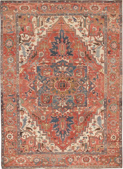 antique heriz serapi rugs 44398 for sale
