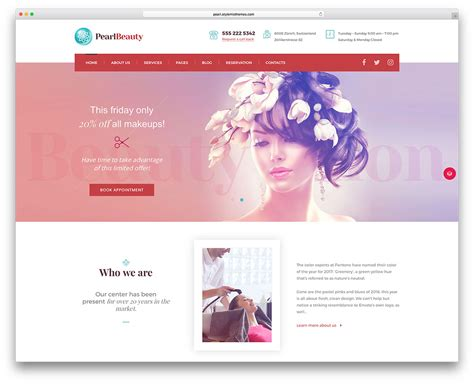 20 beautiful spa beauty salon wordpress themes 2018 brando design