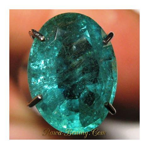 Batu Kecubung Hijau Dengan Memo batu zamrud hijau pekat clarity vs oval cut 1 75 carat