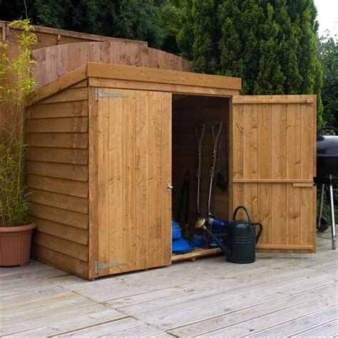 8 X 3 Shed 4 8 Quot X 3 Overlap Pent Mower Shed 10mm Solid Osb Floor