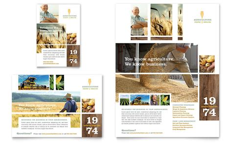 free design templates for advertising farming agriculture flyer ad template design