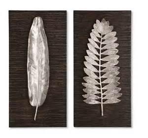 Silver Wall Decor by Uttermost Silver Leaves Wall Rug Center
