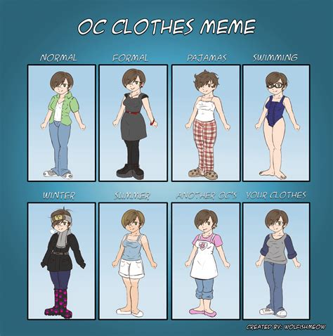 Clothes Meme - clothes meme remastered by beckie tenshi chan on deviantart