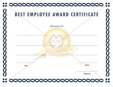 best employee award certificate templates 17 best images about employee award on