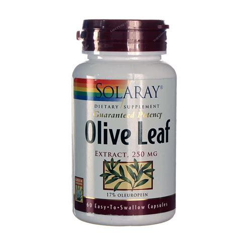 Olive Leaf Detox For Dogs by Solaray Olive Leaf Extract 17 60 Capsules Evitamins