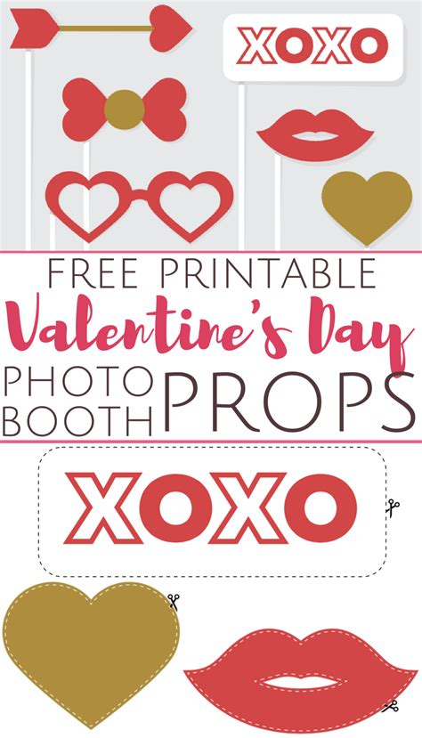 printable photo booth props valentines free printable valentine s day photo booth props