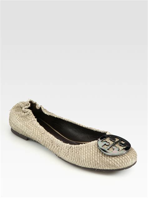 Trend Report Burch Reva Flats Are Going To Be This Second City Style Fashion by Burch Pythonprint Leather Reva Ballet Flats In Brown