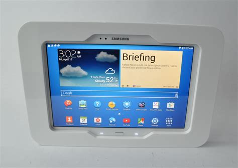10 Tablet Security Mount - samsung galaxy tab 3 4 10 1 white acrylic security w