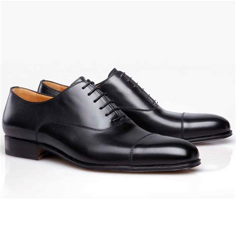 captoe shoes stemar verona calfskin cap toe shoes black