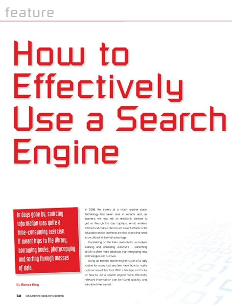 Use For Search Engine How To Use A Search Engine Effectively
