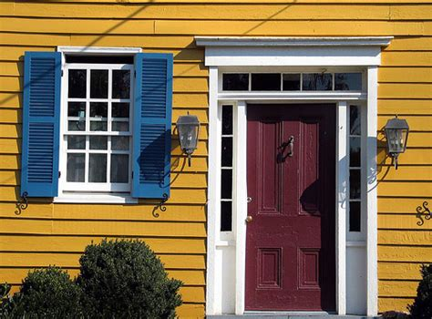 yellow house with blue door red door blue shutters yellow house washington virginia