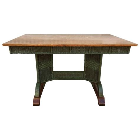 Wicker Table L Antique Wicker Table For Sale At 1stdibs