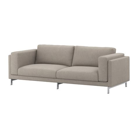 nockeby sofa nockeby sofa ten 246 light gray chrome plated ikea