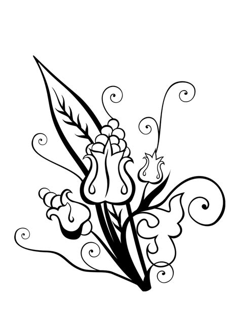 clipart of flowers coloring pages swirly flower bouquet coloring page coloring clipart