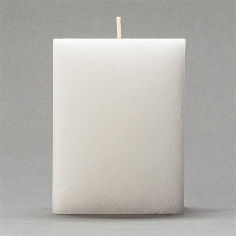 3x3x4 white frosted square pillar candle