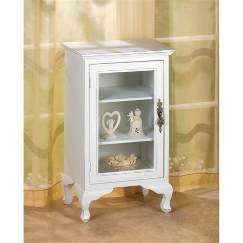 cabinet with shelves and doors simply white 3 shelf storage cabinet glass door chic shabby elegance d1148 ebay