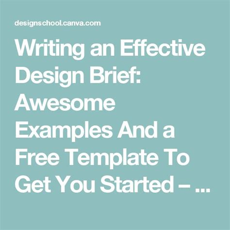 design brief writing writing an effective design brief awesome exles and a