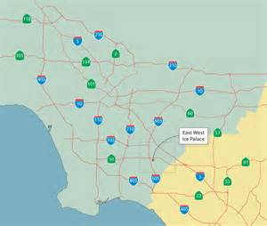 los angeles map freeway