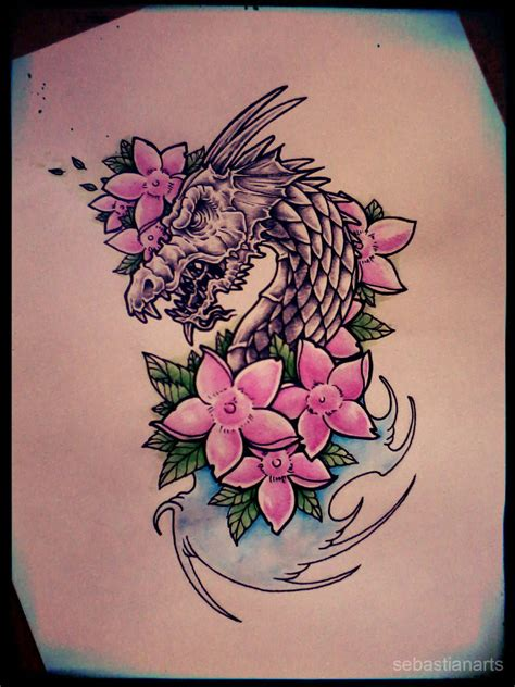 pink dragon tattoo designs design by gothicghostjcd on deviantart