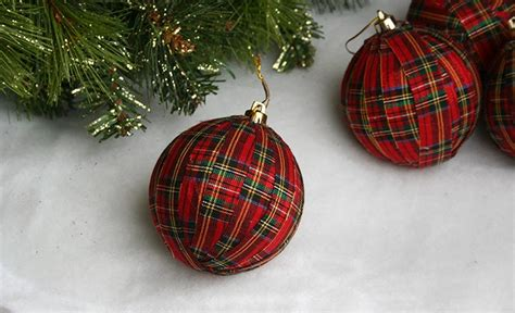 moms eat cold food easy no sew plaid christmas ornament