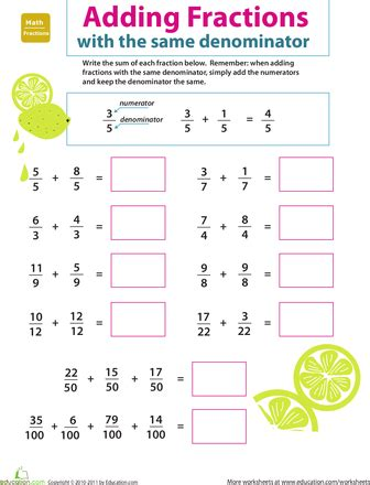 3rd Grade Fractions Worksheets by Introducing Fractions Adding Fractions Adding Fractions