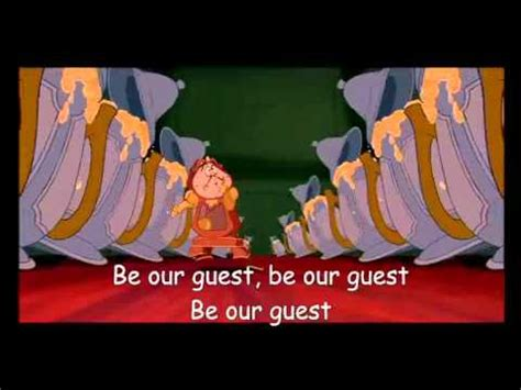 be our guest an country be our guest and the beast lyrics
