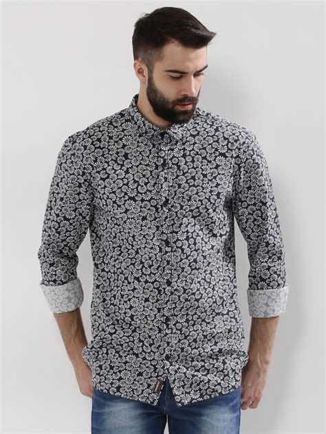 Printed Shirt 2 buy breakbounce curved hem printed shirt for s blue multi casual shirts in india