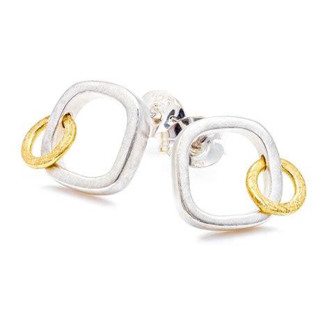 Square Earrings square orbit earrings by shona jewellery
