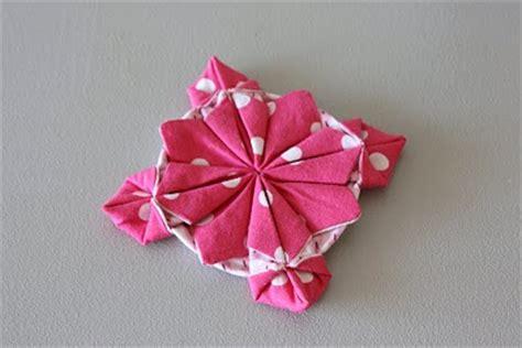 Fabric Origami Flowers - origami fabric flower tutorial