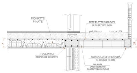 solaio terrazzo balcone latero cemento file dwg gratis scarica dwglab