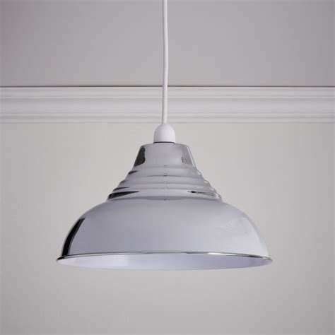 L Shades For Pendant Lights by Wilko Vintage Pendant Chrome Finish At Wilko