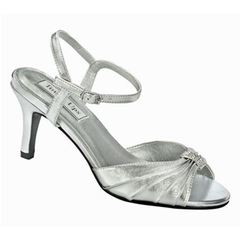 aspen silver metallic mid heel evening shoes