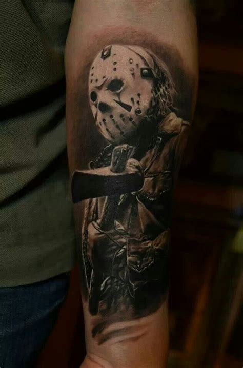 jason mask tattoo friday the 13th jason voorhees tats piercings