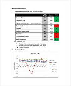 Quarterly Report Template by Sle Hr Report 9 Documents In Word Pdf