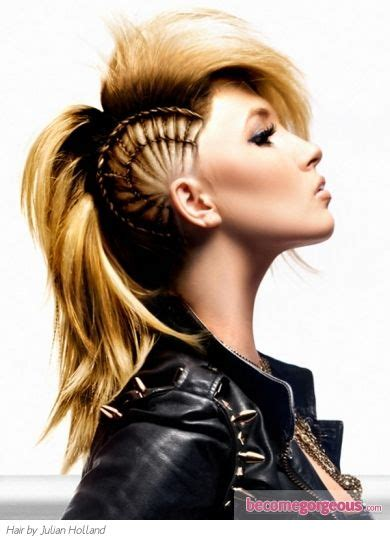 halloween punk hairstyles 19 best braided mohawk images on pinterest braided